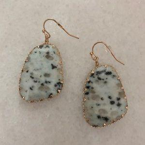 All Eyes On Me Stone Drop Earrings, Kiwi Stone